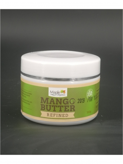Maple Organic 100% Pure Refined Mango Butter 200g